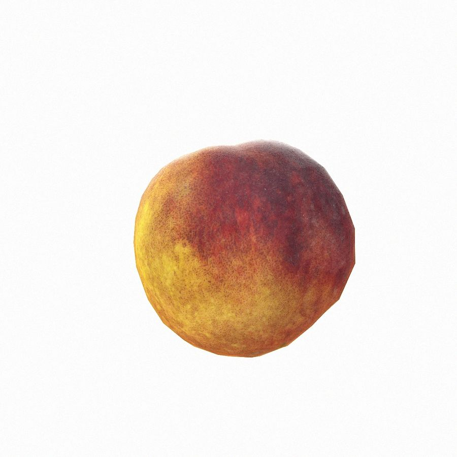 Tropical Realistic Peach Half 2 royalty-free 3d model - Preview no. 22