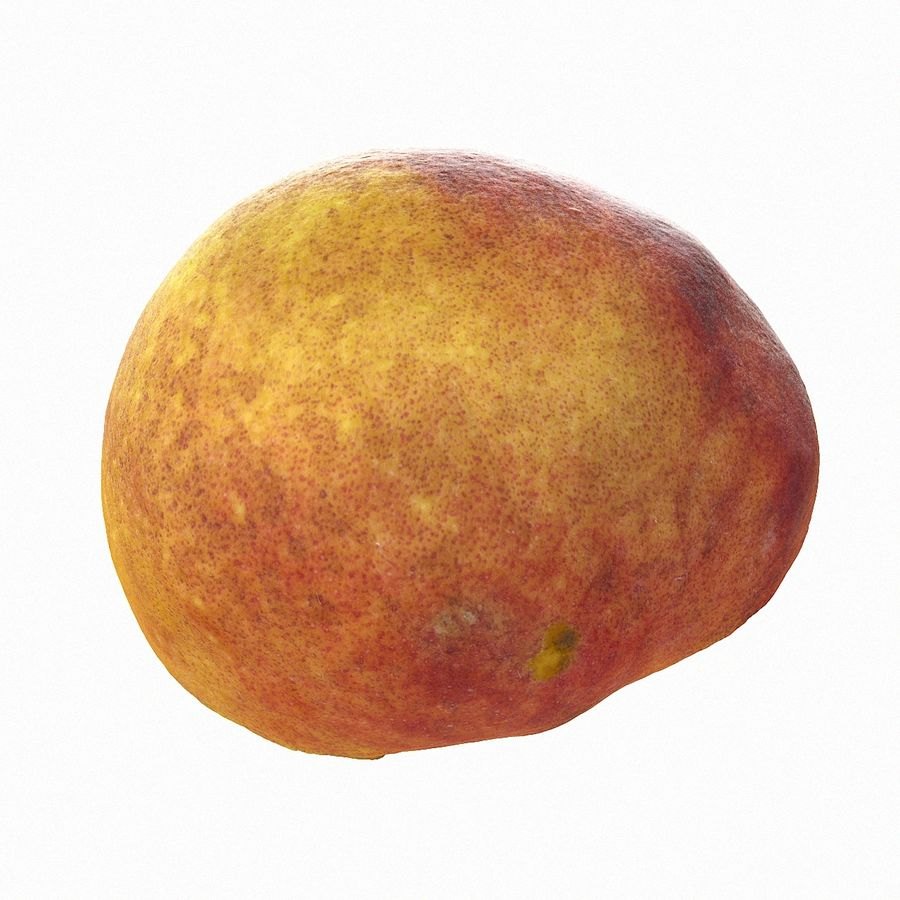 Tropical Realistic Peach Half 2 royalty-free 3d model - Preview no. 9