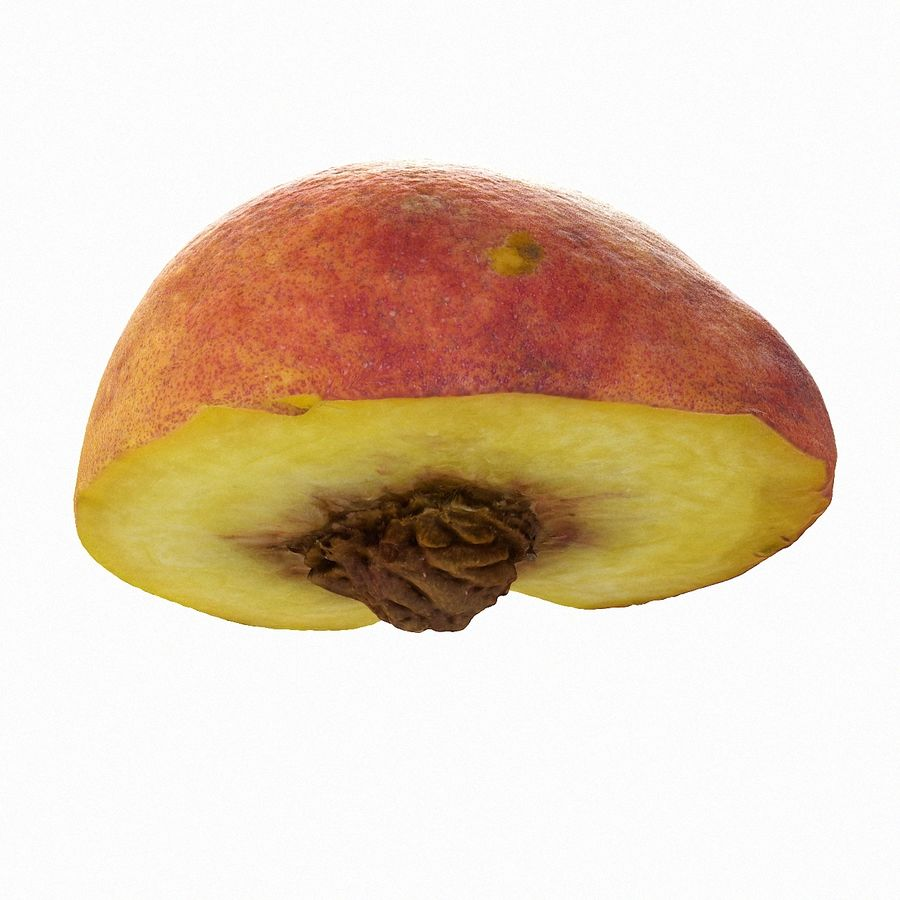 Tropical Realistic Peach Half 2 royalty-free 3d model - Preview no. 10