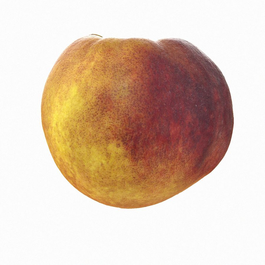 Tropical Realistic Peach Half 2 royalty-free 3d model - Preview no. 6