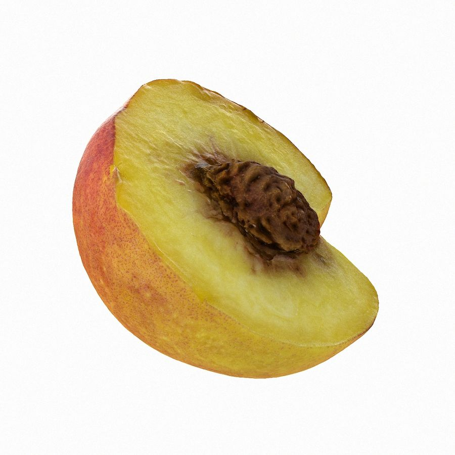 Tropical Realistic Peach Half 2 royalty-free 3d model - Preview no. 7