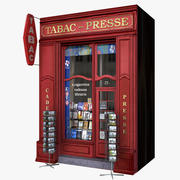 Typowa Paris Shop Fasada Tabac 3d model