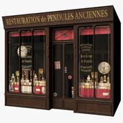 典型的巴黎商店立面钟表匠 3d model