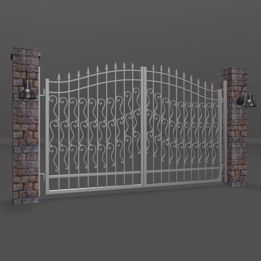 Wrought Iron Gate royalty-free 3d model - Preview no. 1