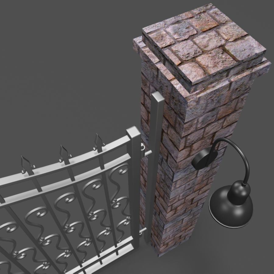 Wrought Iron Gate royalty-free 3d model - Preview no. 4