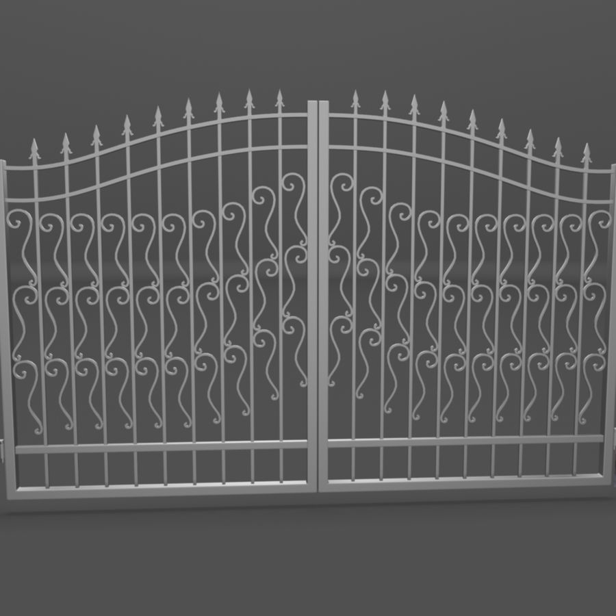 Wrought Iron Gate royalty-free 3d model - Preview no. 5