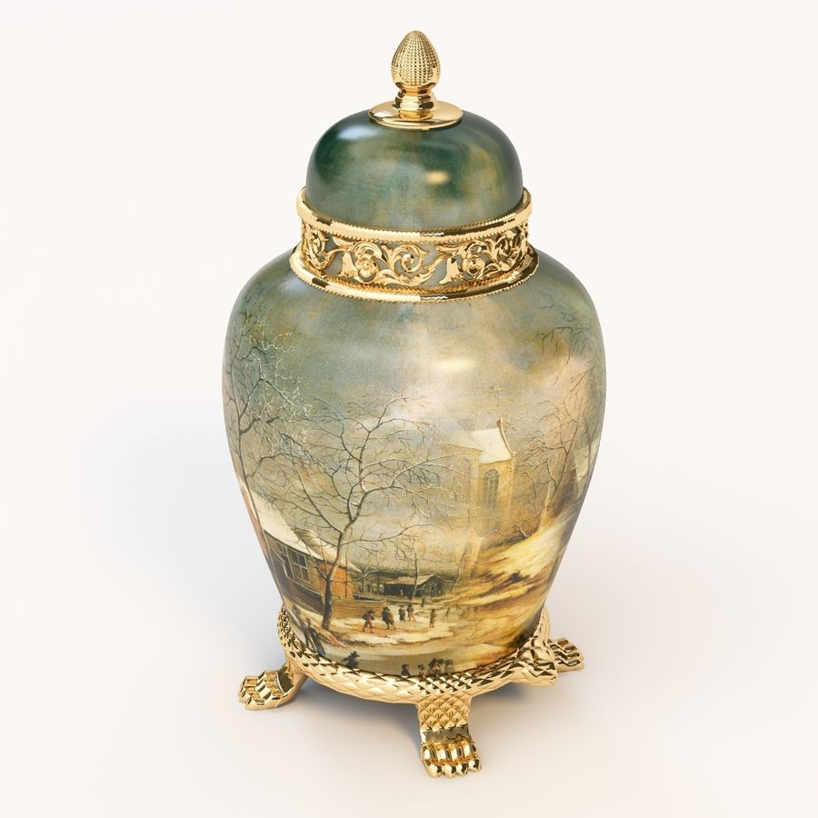 Vase Art Antique royalty-free 3d model - Preview no. 6