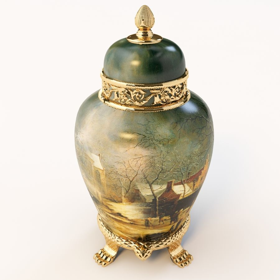 Vase Art Antique royalty-free 3d model - Preview no. 5