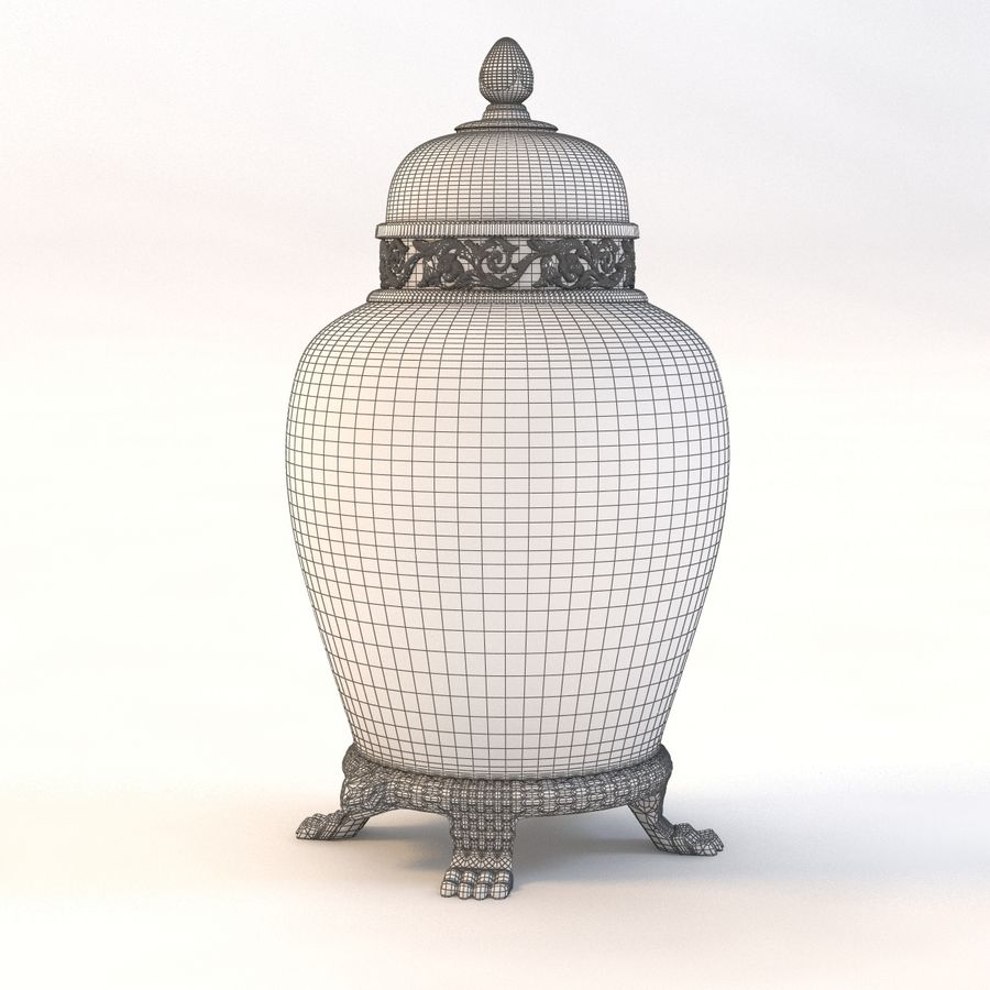 Vase Art Antique royalty-free 3d model - Preview no. 9