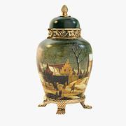 アンティークアート花瓶 3d model