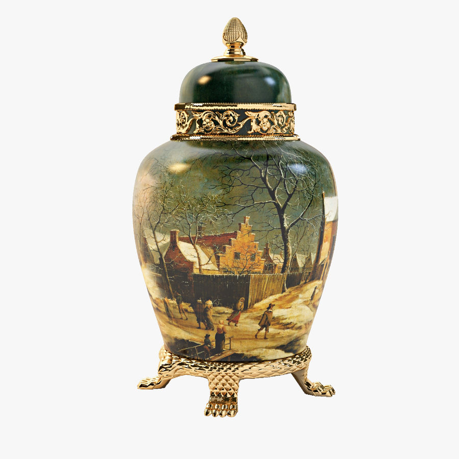Vase Art Antique royalty-free 3d model - Preview no. 1