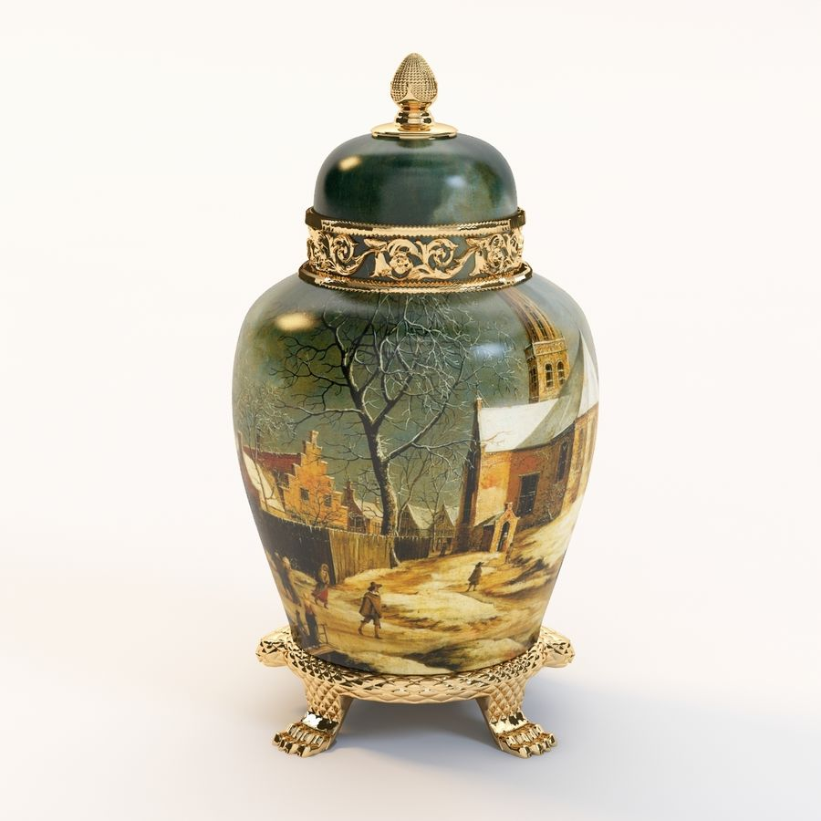 Vase Art Antique royalty-free 3d model - Preview no. 7