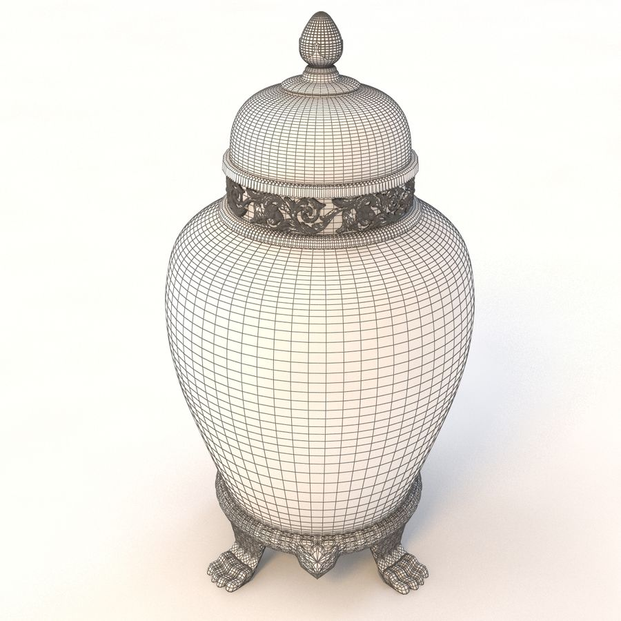 Vase Art Antique royalty-free 3d model - Preview no. 10
