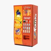 Fanta Vending Machine 3D Model 3d model