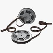 Set di modelli 3D di bobine di film video 3d model