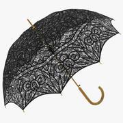 파라솔 우산 블랙 3d model
