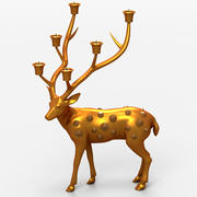 Deer Candle Support 3d model