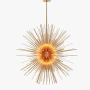 Sputnik Sun Chandelier 3d model
