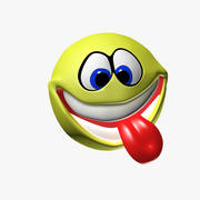 Grappige smiley 3d model