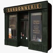 典型的巴黎商店门面11 3d model
