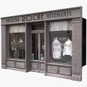 典型的巴黎商店正面13 3d model
