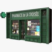 典型的巴黎商店门面10 3d model