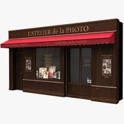 典型的巴黎商店正面12 3d model
