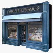 典型的巴黎商店门面3 3d model