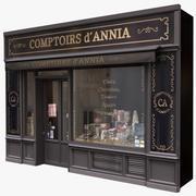 典型的巴黎商店外墙4 3d model