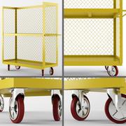 Camions à cage métallique - plateau 3d model