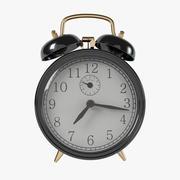 Reloj despertador negro vintage (1) modelo 3d