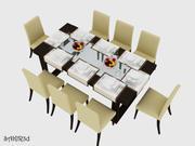 Dinning Table & Chair Full Set 3d model