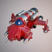Kämpfer Raumschiff 3d model