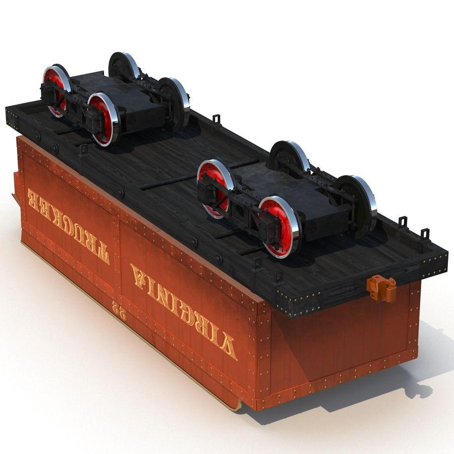 Old Coal Car Modèle 3D royalty-free 3d model - Preview no. 7
