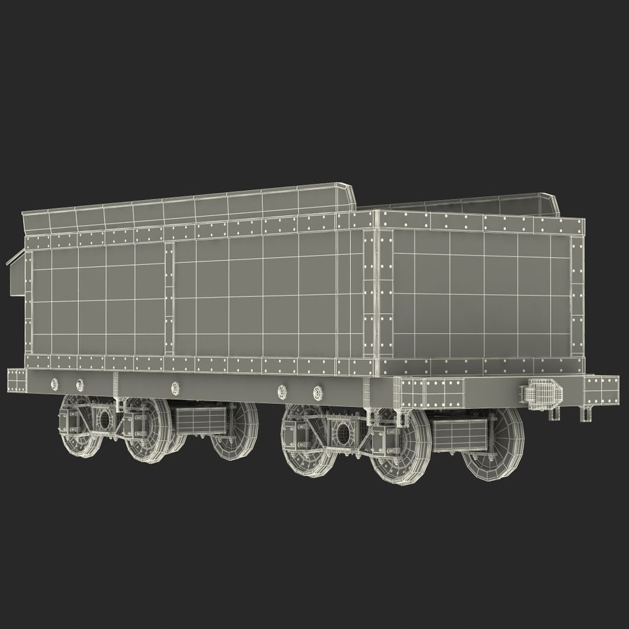 Old Coal Car Modèle 3D royalty-free 3d model - Preview no. 19