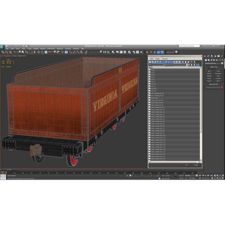 Old Coal Car Modèle 3D royalty-free 3d model - Preview no. 18