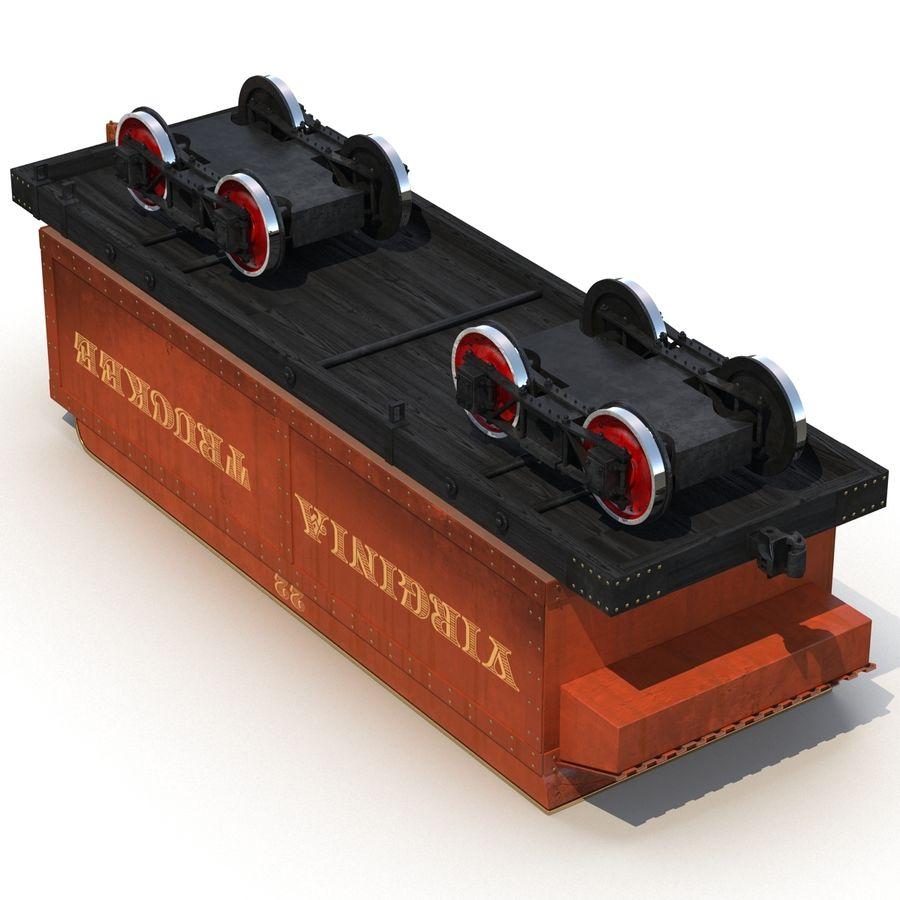 Old Coal Car Modèle 3D royalty-free 3d model - Preview no. 8