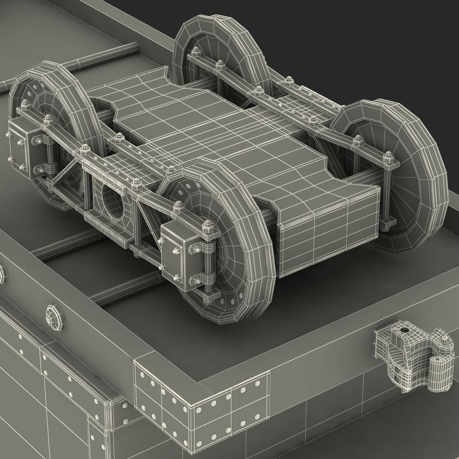 Old Coal Car Modèle 3D royalty-free 3d model - Preview no. 23