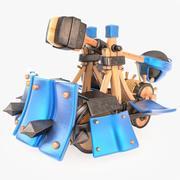 Catapulta blindada de dibujos animados modelo 3d