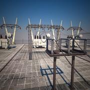 Subestacion electrica modelo 3d