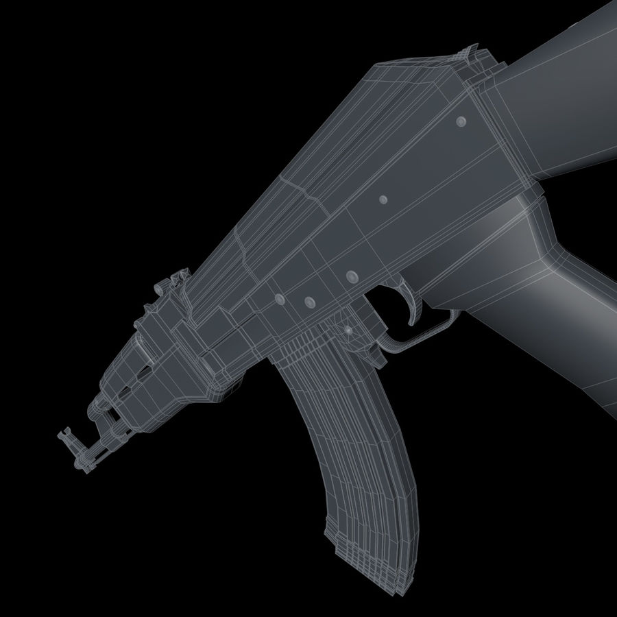 AK-47武器 royalty-free 3d model - Preview no. 12