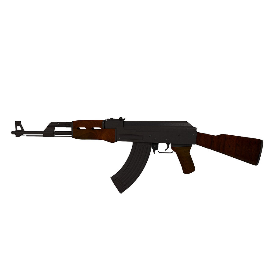 AK-47武器 royalty-free 3d model - Preview no. 2
