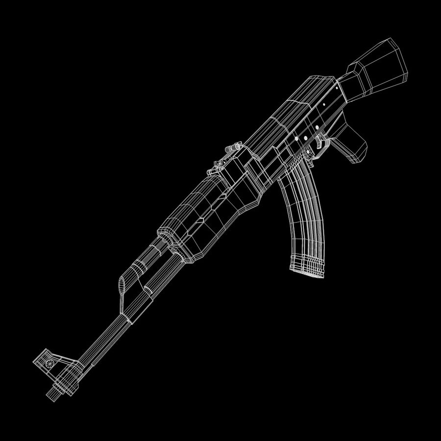 AK-47武器 royalty-free 3d model - Preview no. 8