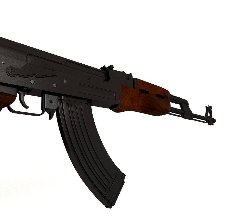 AK-47武器 royalty-free 3d model - Preview no. 4