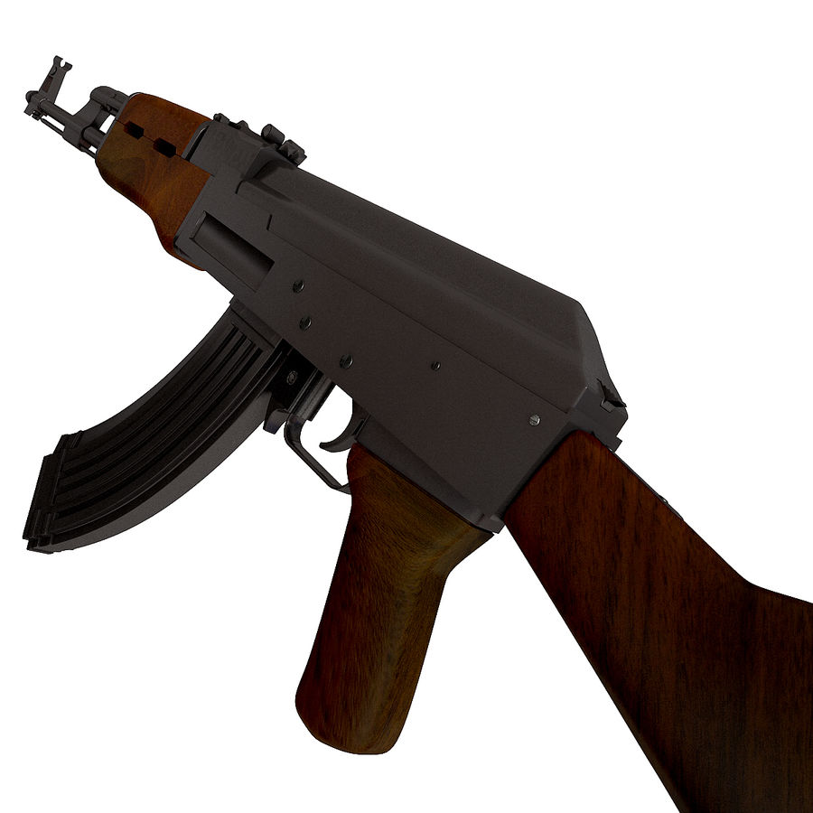 AK-47武器 royalty-free 3d model - Preview no. 7