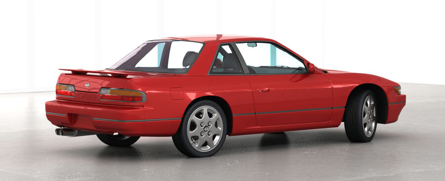 Nissan Silvia S13 1992 royalty-free 3d model - Preview no. 7
