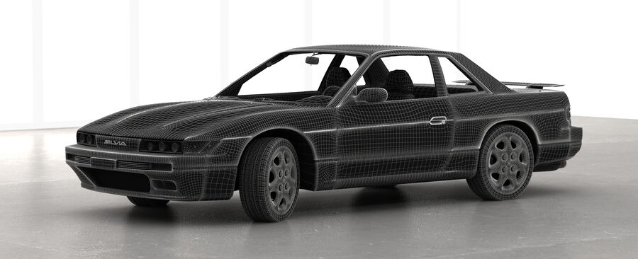 Nissan Silvia S13 1992 royalty-free 3d model - Preview no. 9
