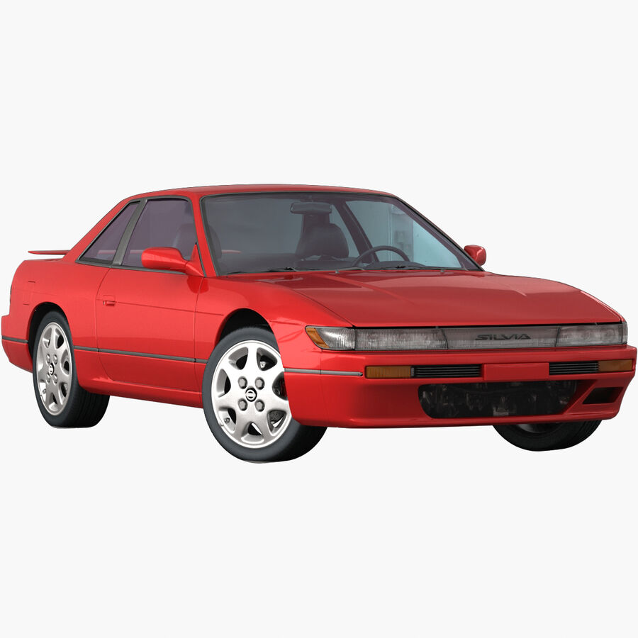 Nissan Silvia S13 1992 royalty-free 3d model - Preview no. 1