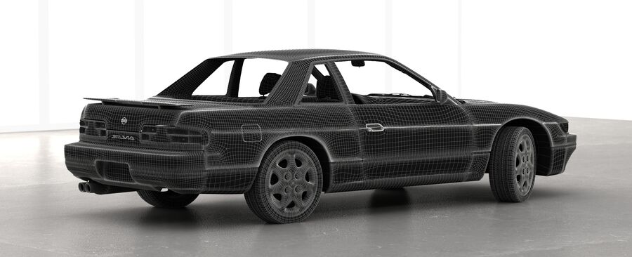 Nissan Silvia S13 1992 royalty-free 3d model - Preview no. 10