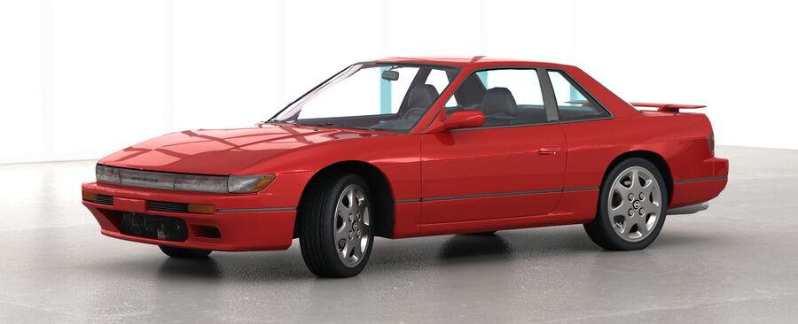 Nissan Silvia S13 1992 royalty-free 3d model - Preview no. 3